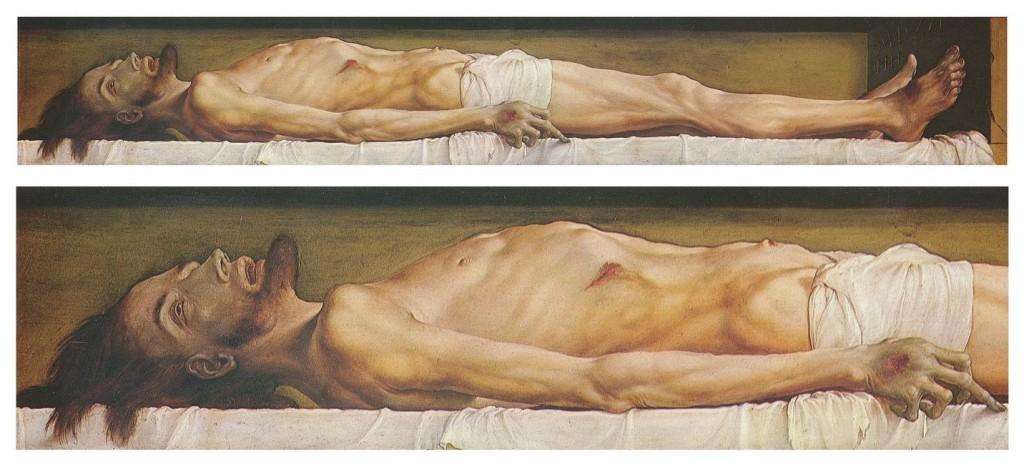 Ο Χριστός στον τάφο. Πίνακας του Χανς Χόλμπαϊν, Μουσείο Βασιλείας Ελβετία.