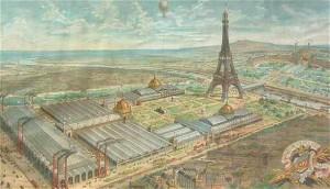 Παρίσι 1889. Ο χώρος της Έκθεσης και ο Πύργος του Άϊφελ. Πηγή: http://www.famous-places.com/eiffel-tower-history/
