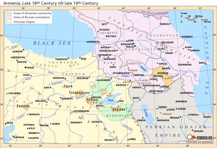 Οι Αρμένιοι ανάμεσα στη Ρωσική Αυτοκρατορία, την Οθωμανική Αυτοκρατορία και την Περσία. Μια εξαιρετικά επισφαλής κατάσταση
