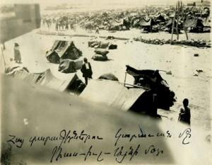 Καταυλισμός εκτοπισμένων Αρμενίων. Έρημος Συρίας 1915.