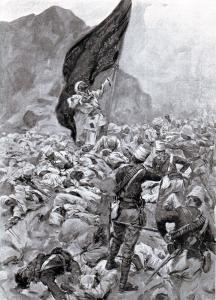 Ομντουρμάν. Ο θάνατος των τελευταίων Πιστών. Πηγή: www.britishbattles.com/omdurman . Η μάχη αυτή υπήρξε ο απόλυτος θρίαμβος των ευρωπαϊκών όπλων απέναντι σε μη-ευρωπαίους. Από τους 60.000 στρατιώτες του Χαλίφη 11.000 σκοτώθηκαν στη μάχη και 16.000 τραυματίστηκαν. Άγγλοι και Αιγύπτιοι δεν είχαν ούτε 500 εκτός μάχης. Δεν ήταν ένας «πολιτισμένος» θρίαμβος. Ο μετέπειτα Λόρδος Κίτσενερ, άφησε τους τραυματίες του εχθρού να πεθάνουν στην έρημο ενώ λεηλάτησε το Χαρτούμ και θανάτωσε πολλούς από τους κατοίκους του.