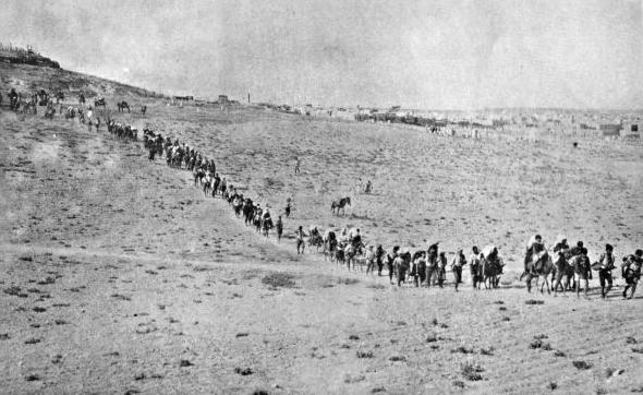 Η πορεία θανάτου των Αρμενίων προς τη συριακή έρημο.