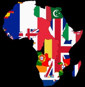 Η αποικιακή Αφρική.  Πηγή: https://commons.wikimedia.org/wiki/File:Flag_map_of_Colonial_Africa_(1939).png